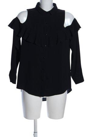 Sweewe ärmellose Bluse schwarz Casual-Look