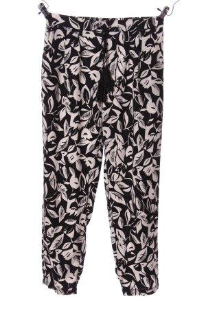 Sweewe Baggy Pants black-white flower pattern casual look