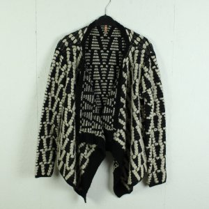 Sweewe Knitted Cardigan black-white