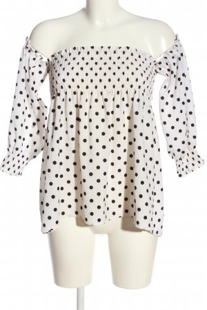 Sweewe Carmen Blouse natural white-black allover print casual look