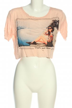 Sweewe Cropped Shirt cream themed print casual look