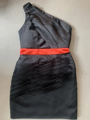 Sweewe Cocktail Dress black-brick red polyester
