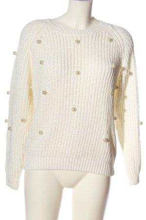 Sweewe Pullover a maglia grossa bianco stile casual