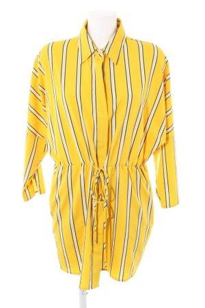 Sweewe Hemdblusenkleid blassgelb Streifenmuster Business-Look