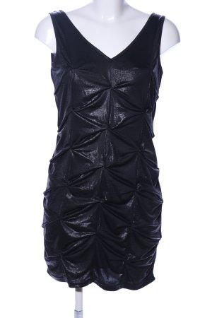 Sweewe Jerseykleid schwarz Animalmuster extravaganter Stil