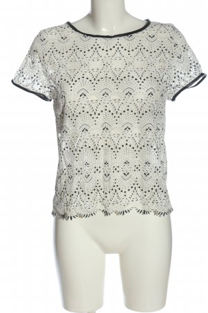 Sweewe Short Sleeved Blouse white-black allover print casual look