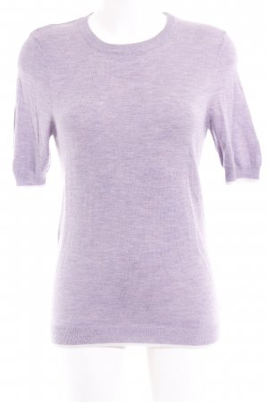 Sweewe Short Sleeve Sweater purple-natural white weave pattern casual look