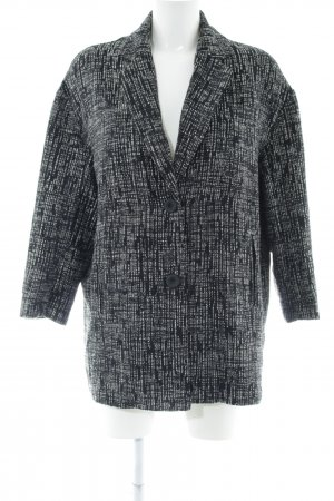 Sweewe Kurzmantel schwarz-weiß Streifenmuster Business-Look