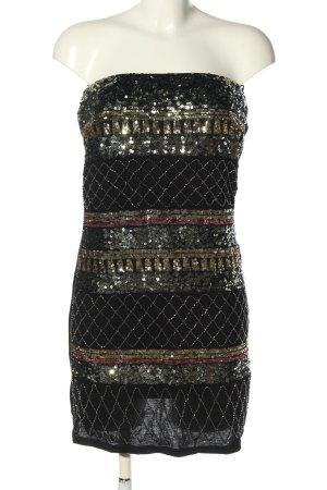 Sweewe Sequin Dress black-gold-colored wet-look