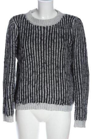 Sweewe Maglione girocollo grigio chiaro-nero puntinato stile casual