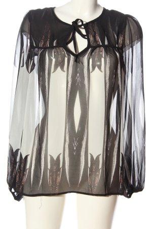 Sweewe Slip-over Blouse black-white themed print elegant