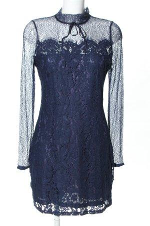 Sweewe Spitzenkleid blau Blumenmuster Elegant