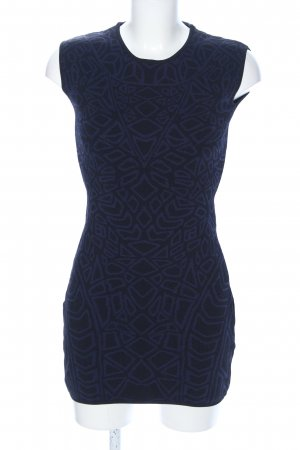 Sweewe Stretchkleid blau grafisches Muster Casual-Look