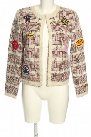 Sweewe Cardigan red-natural white check pattern casual look