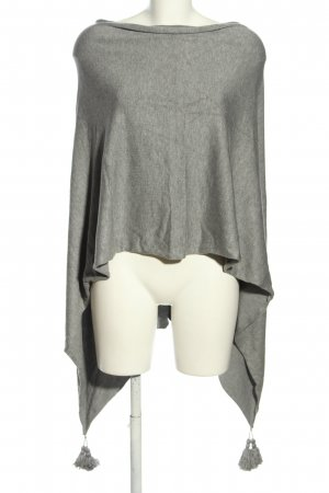 Sweewe Knitted Poncho light grey flecked casual look