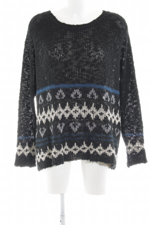 Sweewe Strickpullover grafisches Muster Casual-Look