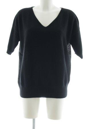 Sweewe Strickshirt schwarz Casual-Look