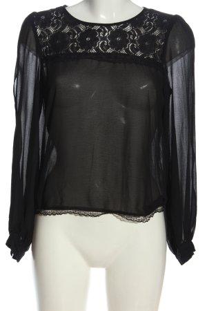 Sweewe Transparent Blouse black elegant