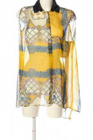 Sweewe Transparent Blouse abstract pattern extravagant style