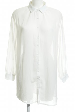 Sweewe Transparenz-Bluse florales Muster Casual-Look