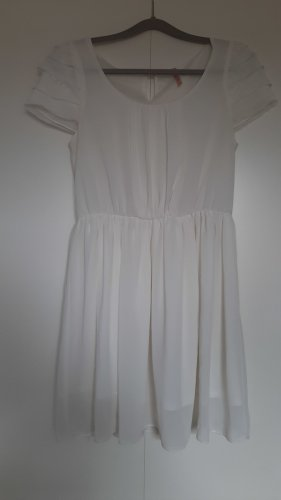 Sweewe weißes Kleid kurzarm Gr. S/M
