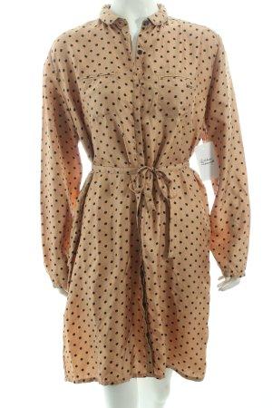 Swildens Seidenbluse beige-schwarz Punktemuster Street-Fashion-Look