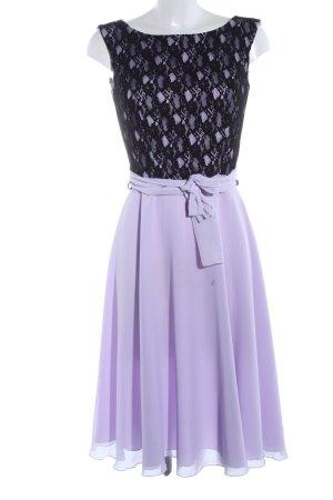 Swing A-Linien Kleid lila-schwarz Elegant