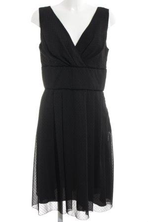 Swing Abendkleid schwarz Punktemuster Elegant