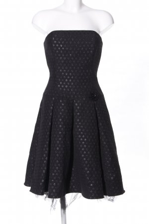 Swing Abendkleid schwarz-silberfarben Punktemuster Glanz-Optik