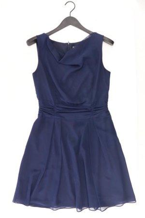 Swing Abendkleid Größe 38 Ärmellos blau aus Polyester