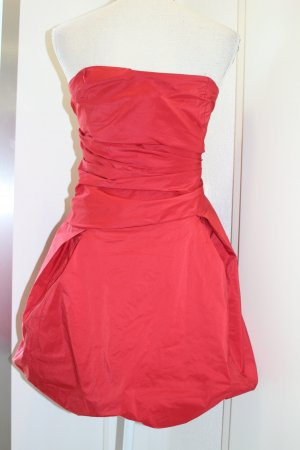 Swing Balloon Dress red polyester