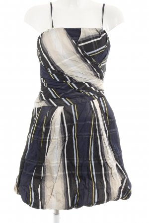 Swing Bandeaukleid Streifenmuster Casual-Look