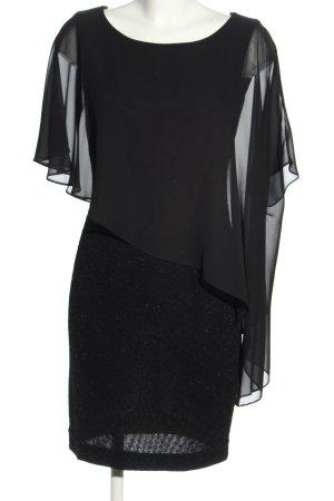 Swing Blusenkleid schwarz Elegant