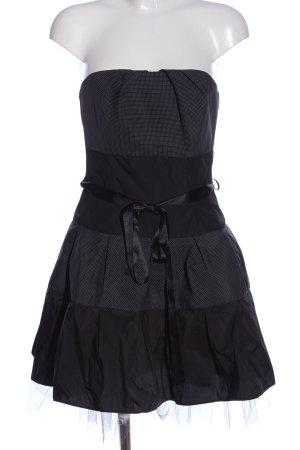 Swing Robe bustier noir-blanc motif de tache style décontracté