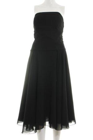 Swing Vestido bustier negro elegante