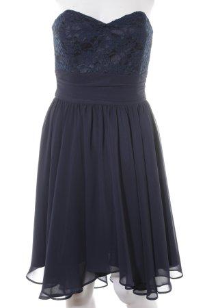 Swing Bustier Dress dark blue elegant