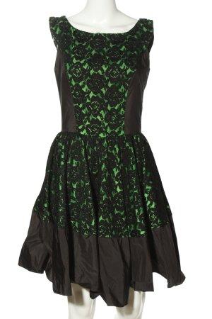 Swing Cocktailkleid schwarz-grün Elegant