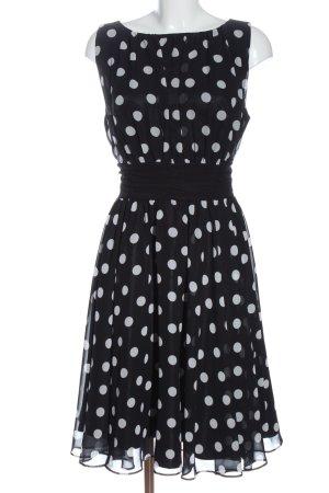 Swing Cocktail Dress black-white spot pattern elegant