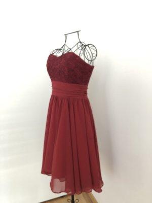 SWING Cocktailkleid / festliches Kleid - braunrot