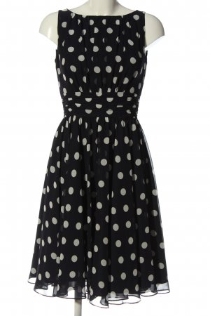 Swing Cocktail Dress black-white allover print casual look
