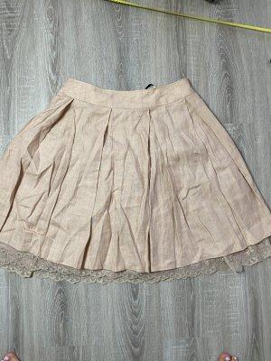 Swing Balloon Skirt rose-gold-coloured linen
