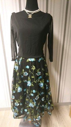 Petticoat Dress black-blue mixture fibre
