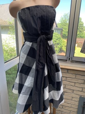 Swing Evening Dress white-black
