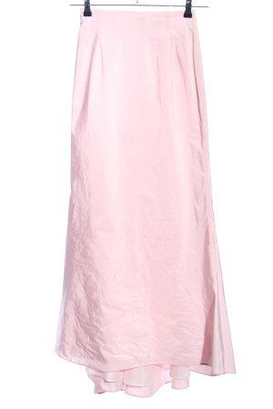 Swing Falda larga rosa look casual