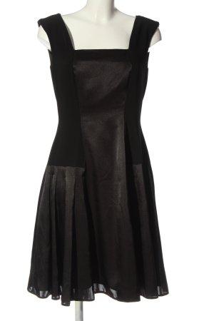 Swing Midi Dress black wet-look