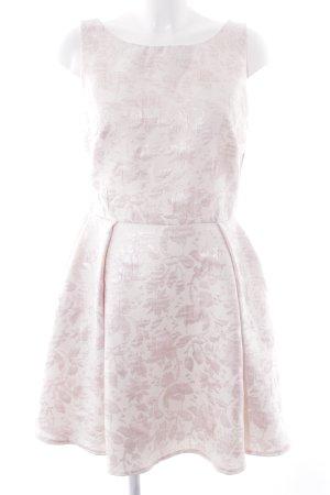 Swing Vestido a media pierna rosa-rosa empolvado estampado floral look casual