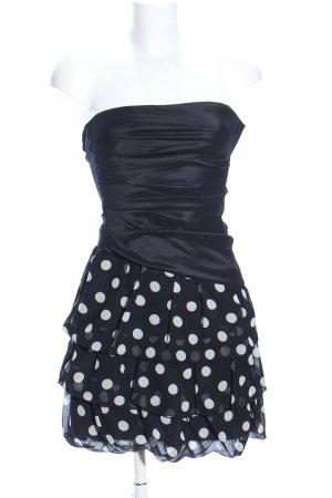 Swing Minikleid schwarz-weiß Punktemuster Elegant