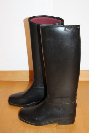 Swing Riding Boots black synthetic material