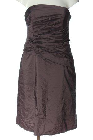 Swing schulterfreies Kleid schwarz Casual-Look
