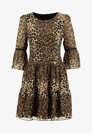 Swing Empire Dress brown